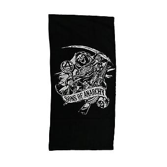 Sons of Anarchy Black & White SOA Reaper Beach Towel 28 x 58 inch