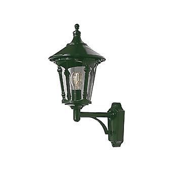 Konstsmide Virgo Green Up Wall Light