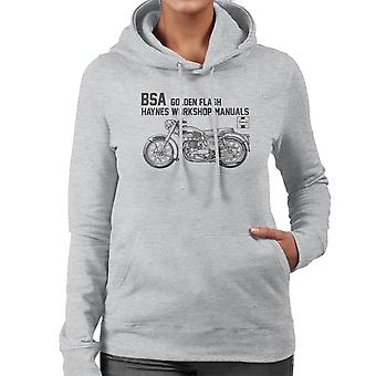 Haynes Owners Workshop Manual BSA A10 650 Golden Flash Women's Hooded Sweatshirt