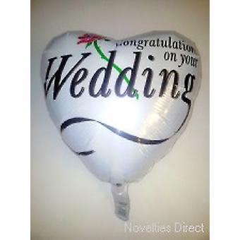 Foil Balloon 'CONGRATULATIONS ON YOUR WEDDING'