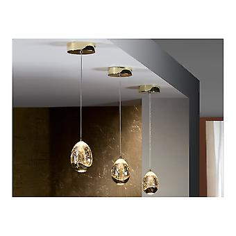 Schuller Rocio Single Gold Crystal Egg Orb Ceiling Pendant