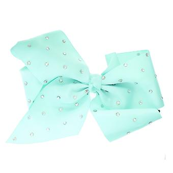 Girls Boutique Large Fashion Hair Bow with Diamante Dance School Accessory