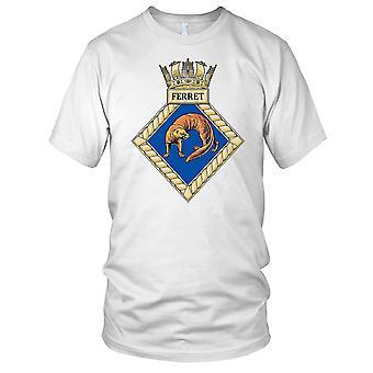 Royal Navy HMS Ferret Ladies T Shirt