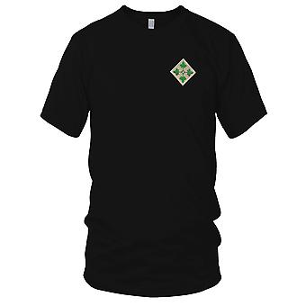US Army - 4th Infantry Division Embroidered Patch - Ladies T Shirt