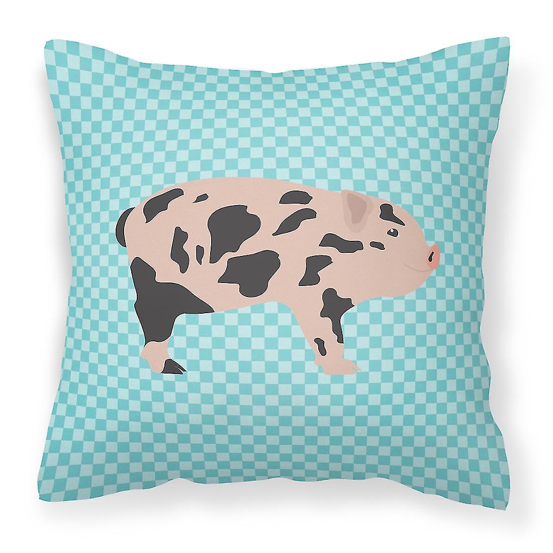 Vérifier Tissu Bleu Décoratif Mini Miniature Cochon Oreiller RAc35jLq4