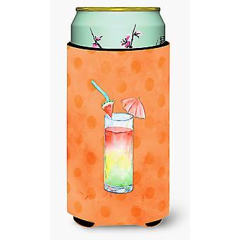 Umberella koktajl pomarańczowy Polkadot Tall Boy napojów izolator Hugger