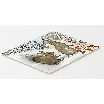 Carolines Treasures  ASA2181CMT Winter Rabbits Kitchen or Bath Mat 20x30