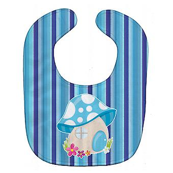 Carolines Treasures  BB6911BIB Fairy House Blue Stripes Baby Bib