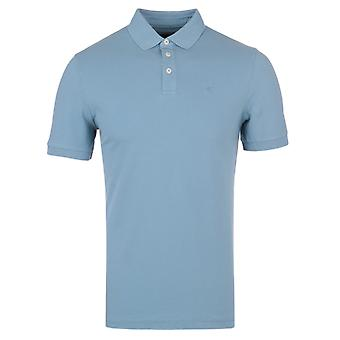 Mar de GMD de Hackett Piqué Stretch azul Slim Fit camisa de Polo