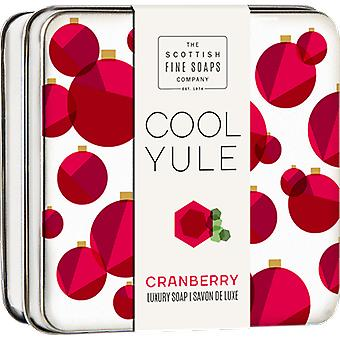 Scottish Fine Soaps Cool Yule Cranberry sapone Tin