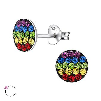 Round crystal from Swarovski® - 925 Sterling Silver Children's Ear Studs