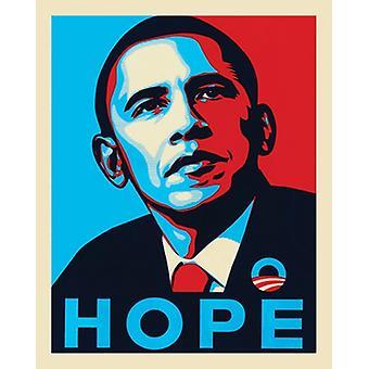 Impresión de póster Hope de Obama (16 x 20)