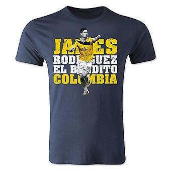 James Rodriguez Colombia spiller T-Shirt (Navy) - børn