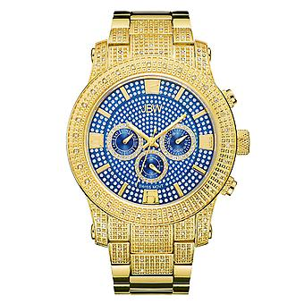 JBW diamond men's stainless steel watch LYNX - gold / blue