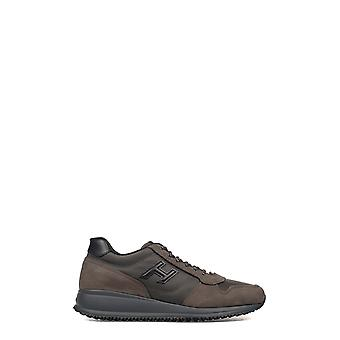 Hogan men's HXM2460V590E5R0ATW brown leather of sneakers