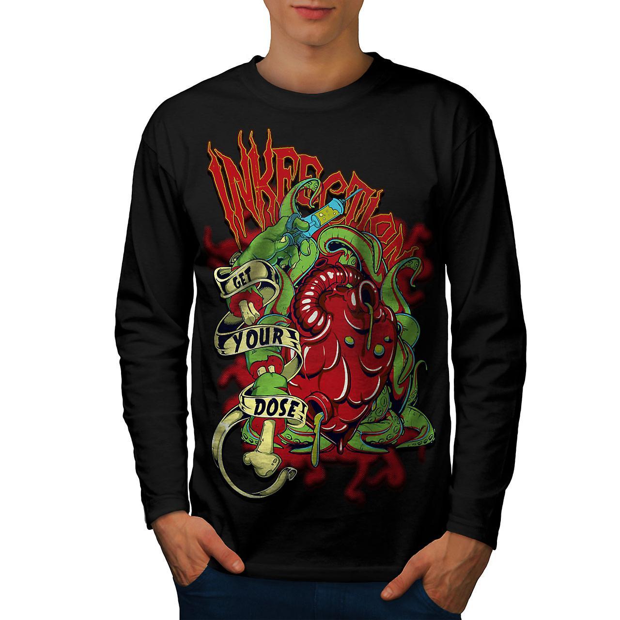 Obtenez votre Dose Dead Men noirLong Sleeve T-shirt | Wellcoda