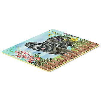 Black Russian Terrier Spring Kitchen or Bath Mat 20x30