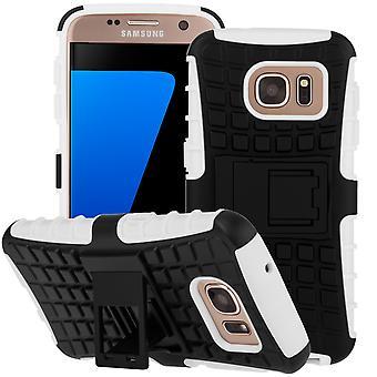 Yousave accesorios Samsung Galaxy S7 soporte caja combinada - blanco