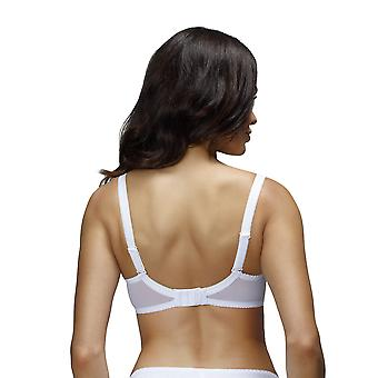 Nessa B2 Women's Paris White Solid Colour Embroidered Padded Underwired Push Up Bra