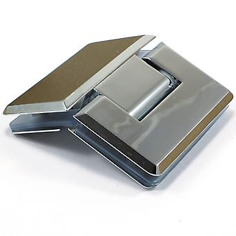 135 Degree Glass to Glass Shower Door Hinge | Chrome Plated | Tapered Edges