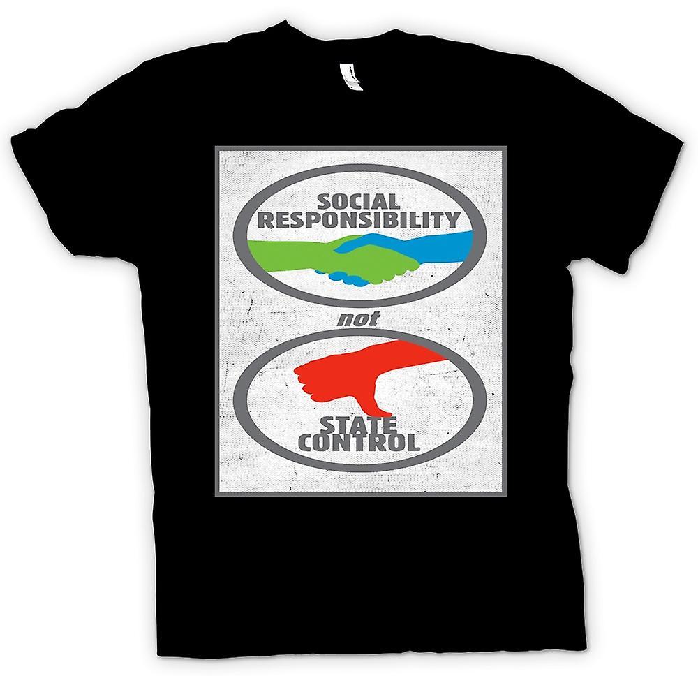 Herren T-shirt - sozialer Verantwortung nicht staatliche Kontrolle