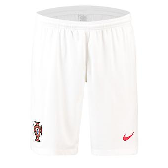 2018-2019 Portugal Nike Away Shorts (White)