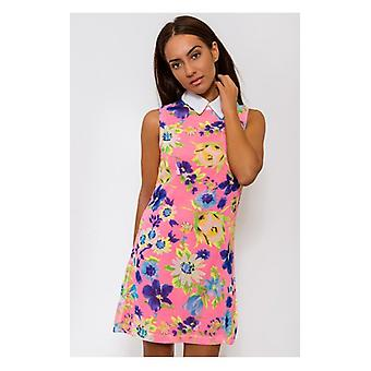 The Fashion Bible Flower Bomb Pink Floral Sleeveless Shift Dress