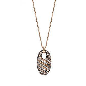 Joop kvinnors kedja halsband silver Rosé cubic zirconia extrema PAVÈE JPNL90750C420