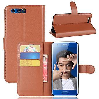Pocket lommebok Deluxe brun til Huawei ære 9 beskyttelse ermet tilfelle