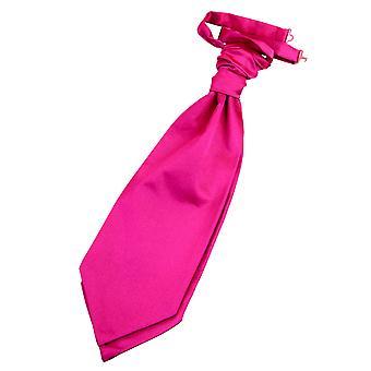 Hot Pink Plain Satin Hochzeit bereits gebundene Krawatte