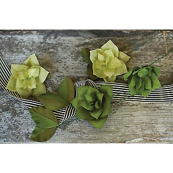 Double-Sided Extra Fine Crepe Paper 2/Pkg-Green Tea/Cypress & Ferns/Moss
