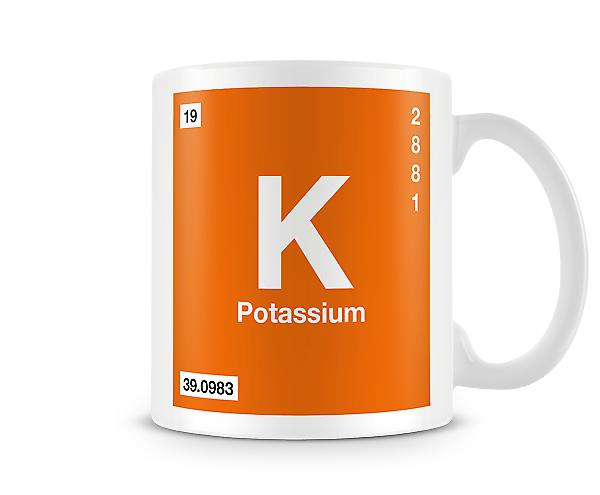 Element Symbol 019 K - Potassium Printed Mug