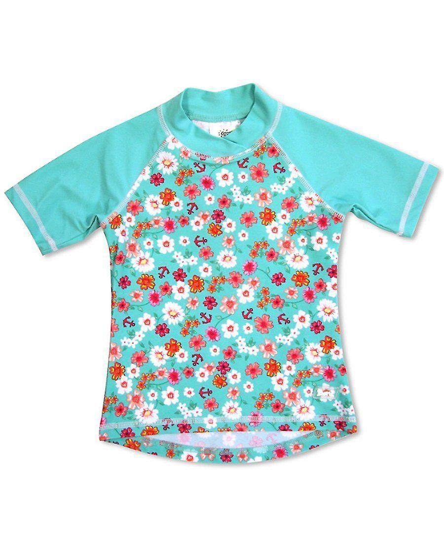 Banz Girls UV Short Sleeved Rash Top - Flowers