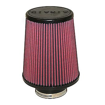 Airaid 700-494 Universal Clamp-On Air Filter: Round Tapered; 3 in (76 mm) Flange ID; 7 in (178 mm) Height; 6 in (152 mm)