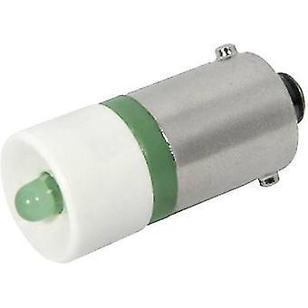 CML LED bulb BA9S Green 230 V AC 450 mcd
