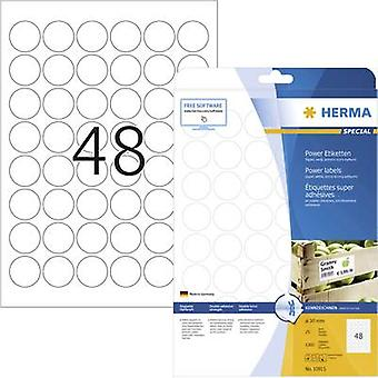 Herma 10915 Labels Ø 30 mm Paper White