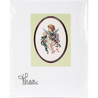 Poetry Cherubs On Aida Counted Cross Stitch Kit-9.75