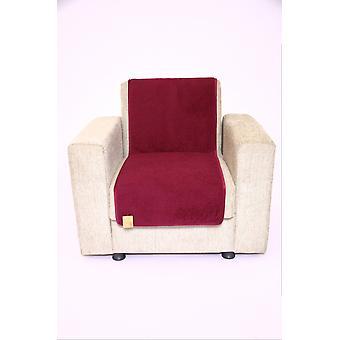Seat saver wool of bordeaux 175 cm x 47 cm