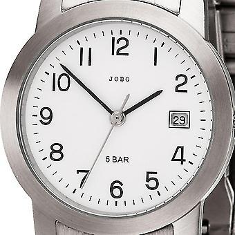 JOBO armbandsur quartz analog rostfritt stål mäns klocka med datum
