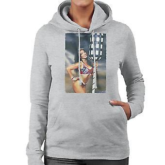 Retro Gladiators Jet With Pugil Sticks Women's Hooded Sweatshirt