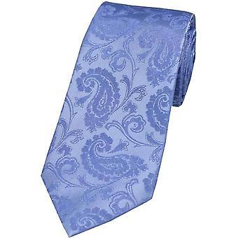 David Van Hagen Paisley Tonal Silk Tie - Sky Blue