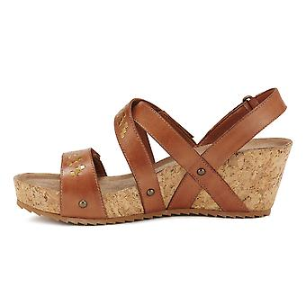Walking Cradles Womens Tierman Leather Open Toe Casual Strappy Sandals