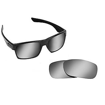 TWOFACE Replacement Lenses Polarized Silver Mirror by SEEK fits OAKLEY
