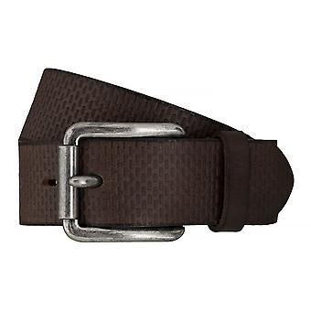 TOM TAILOR belt leather belts men's belts jeans belt Brown 7611