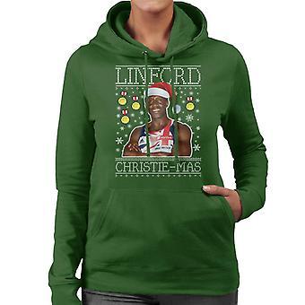 Linford Christie Mas Christmas Knit Women's Hooded Sweatshirt