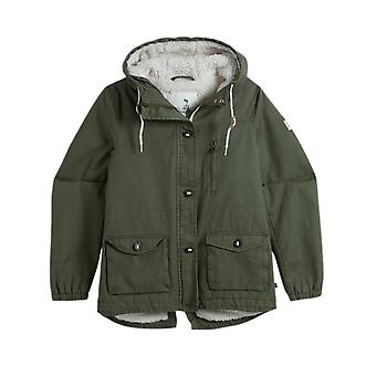 Animal Dark Olive Green Shortay Womens Water Resistant Jacket