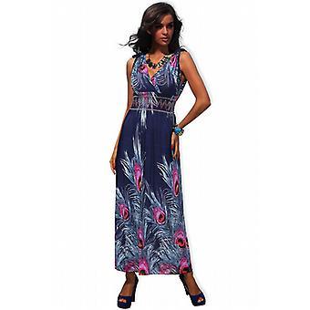 Waooh - mode - lange jurk met patroon bloem