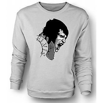 Mens Sweatshirt Elvis Presley Singing - Cool
