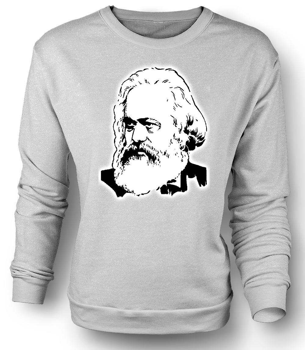 Mens Sweatshirt Karl Marx - Icon