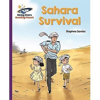 Lecture planète - Sahara survie - Violet: Galaxy - Rising Stars lire la planète (broché)